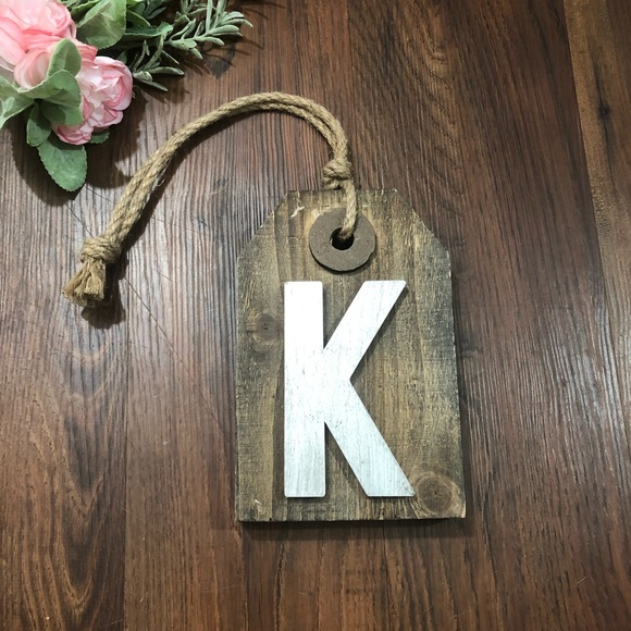 Hanging Letter K Wall Decor